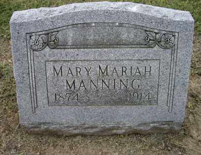 MANNING, MARY MARIAH - Lawrence County, Arkansas | MARY MARIAH MANNING - Arkansas Gravestone Photos
