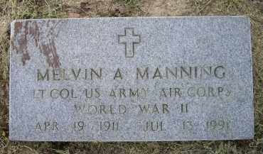 MANNING (VETERAN WWII), MELVIN A. - Lawrence County, Arkansas | MELVIN A. MANNING (VETERAN WWII) - Arkansas Gravestone Photos