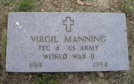 MANNING (VETERAN WWII), VIRGIL - Lawrence County, Arkansas | VIRGIL MANNING (VETERAN WWII) - Arkansas Gravestone Photos