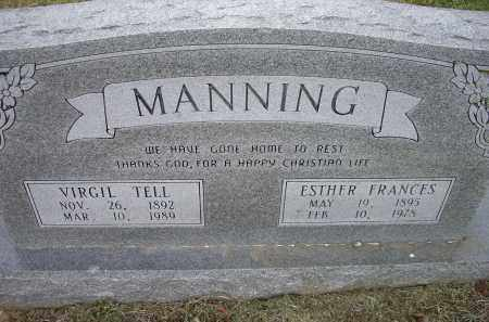 MANNING, VIRGIL TELL - Lawrence County, Arkansas | VIRGIL TELL MANNING - Arkansas Gravestone Photos