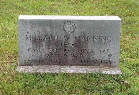 MANNING (VETERAN WWII), MILLARD WELLS - Lawrence County, Arkansas | MILLARD WELLS MANNING (VETERAN WWII) - Arkansas Gravestone Photos