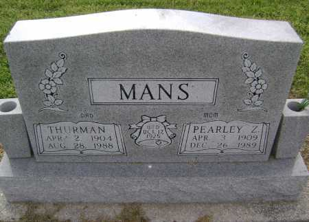 MANS, PEARLEY ZELL - Lawrence County, Arkansas | PEARLEY ZELL MANS - Arkansas Gravestone Photos