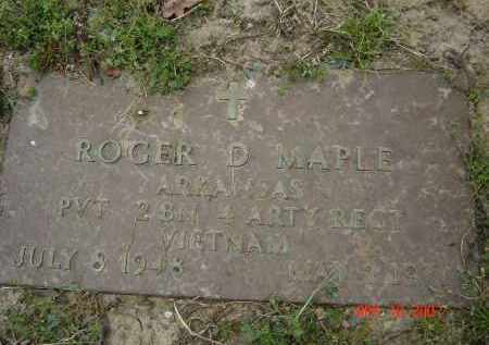 MAPLE (VETERAN VIET), ROGER D. - Lawrence County, Arkansas | ROGER D. MAPLE (VETERAN VIET) - Arkansas Gravestone Photos