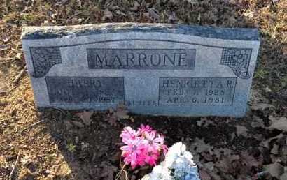 MARRONE, HARRY - Lawrence County, Arkansas | HARRY MARRONE - Arkansas Gravestone Photos