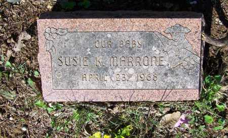 MARRONE, SUSIE K. - Lawrence County, Arkansas | SUSIE K. MARRONE - Arkansas Gravestone Photos