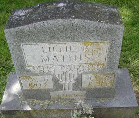 MATHIS, LILLIE B. - Lawrence County, Arkansas | LILLIE B. MATHIS - Arkansas Gravestone Photos