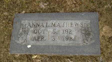 MATTHEWS, ANNA L. - Lawrence County, Arkansas | ANNA L. MATTHEWS - Arkansas Gravestone Photos