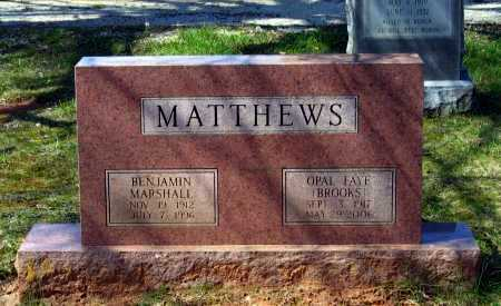 MATTHEWS, BENJAMIN MARSHALL - Lawrence County, Arkansas | BENJAMIN MARSHALL MATTHEWS - Arkansas Gravestone Photos