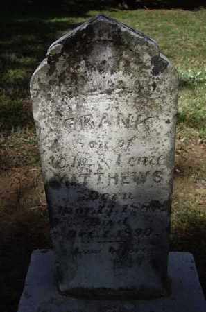MATTHEWS, FRANK - Lawrence County, Arkansas | FRANK MATTHEWS - Arkansas Gravestone Photos