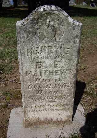 MATTHEWS, HENRY ELTON - Lawrence County, Arkansas | HENRY ELTON MATTHEWS - Arkansas Gravestone Photos