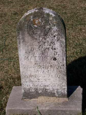 MATTHEWS, LETTIE - Lawrence County, Arkansas | LETTIE MATTHEWS - Arkansas Gravestone Photos