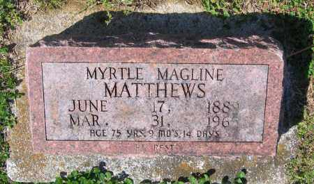 MATTHEWS, MYRTLE MAGLINE - Lawrence County, Arkansas | MYRTLE MAGLINE MATTHEWS - Arkansas Gravestone Photos