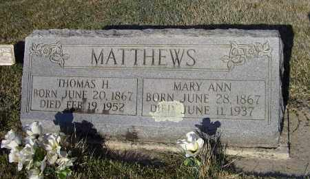 MATTHEWS, MARY ANN - Lawrence County, Arkansas | MARY ANN MATTHEWS - Arkansas Gravestone Photos