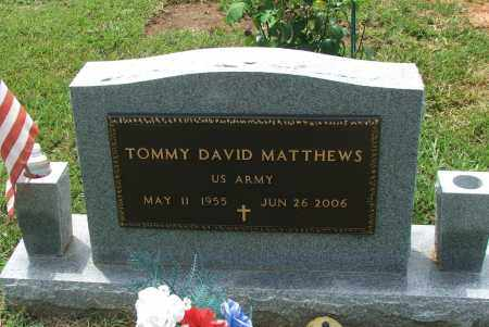 MATTHEWS (VETERAN), TOMMY DAVID - Lawrence County, Arkansas | TOMMY DAVID MATTHEWS (VETERAN) - Arkansas Gravestone Photos