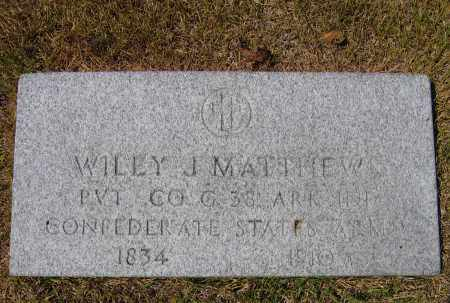 MATTHEWS (VETERAN CSA), WILEY JOHN - Lawrence County, Arkansas | WILEY JOHN MATTHEWS (VETERAN CSA) - Arkansas Gravestone Photos