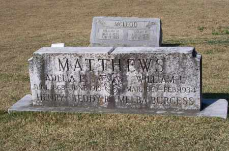 MORGAN MATTHEWS, ADELIA E. - Lawrence County, Arkansas | ADELIA E. MORGAN MATTHEWS - Arkansas Gravestone Photos