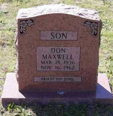 "MAXWELL, DONALD ""DON"" - Lawrence County, Arkansas 