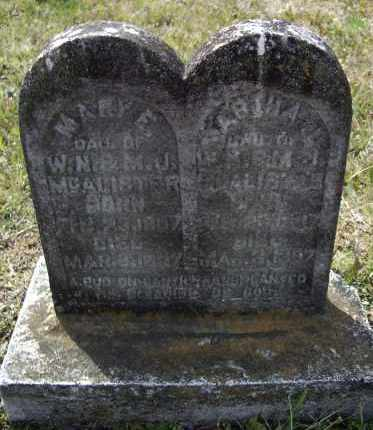 MCALISTER, MARY E. - Lawrence County, Arkansas | MARY E. MCALISTER - Arkansas Gravestone Photos