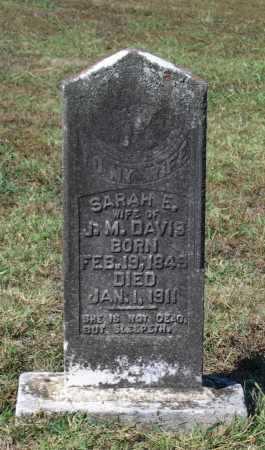 DAVIS, SARAH E. MCALISTER - Lawrence County, Arkansas | SARAH E. MCALISTER DAVIS - Arkansas Gravestone Photos