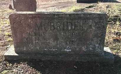 MCBRIDE, ALMUS F. - Lawrence County, Arkansas | ALMUS F. MCBRIDE - Arkansas Gravestone Photos