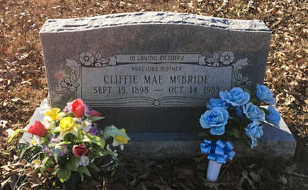 MCBRIDE, CLIFFIE MAE - Lawrence County, Arkansas | CLIFFIE MAE MCBRIDE - Arkansas Gravestone Photos