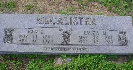 MCCALISTER, VAN ELLISON - Lawrence County, Arkansas | VAN ELLISON MCCALISTER - Arkansas Gravestone Photos