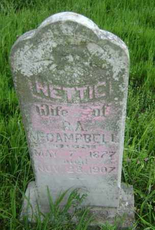 MCCAMPBELL, NETTIE - Lawrence County, Arkansas | NETTIE MCCAMPBELL - Arkansas Gravestone Photos
