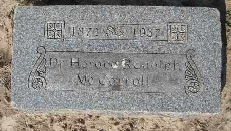 MCCARROLL, MD, HORACE RUDOLPH - Lawrence County, Arkansas | HORACE RUDOLPH MCCARROLL, MD - Arkansas Gravestone Photos
