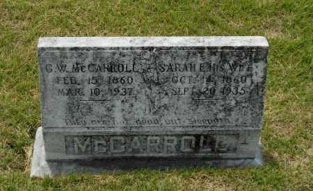 "MCCARROLL, SR, GEORGE WASHINGTON FILMORE ""G. W."" - Lawrence County, Arkansas 