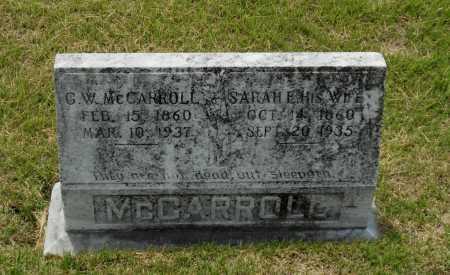 MCCARROLL, SARAH ELLEN - Lawrence County, Arkansas | SARAH ELLEN MCCARROLL - Arkansas Gravestone Photos