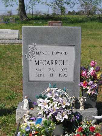 MCCARROLL, MANCE EDWARD - Lawrence County, Arkansas | MANCE EDWARD MCCARROLL - Arkansas Gravestone Photos
