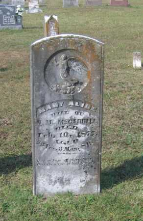 MCCARROLL, MARY ALICE - Lawrence County, Arkansas | MARY ALICE MCCARROLL - Arkansas Gravestone Photos