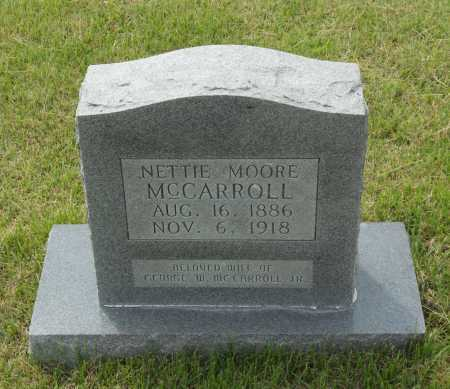 MOORE MCCARROLL, NETTIE THURMAN - Lawrence County, Arkansas | NETTIE THURMAN MOORE MCCARROLL - Arkansas Gravestone Photos