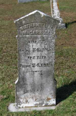 MCCARROLL, NATHANIEL MANSFIELD - Lawrence County, Arkansas | NATHANIEL MANSFIELD MCCARROLL - Arkansas Gravestone Photos