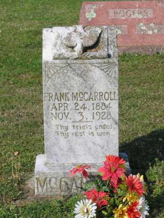 "MCCARROLL, ROBERT FRANKLIN ""FRANK"" - Lawrence County, Arkansas 