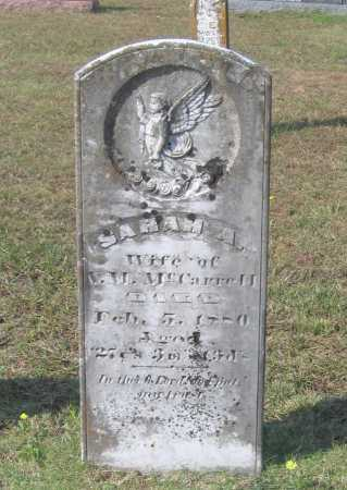 MCCARROLL, SARAH A. - Lawrence County, Arkansas | SARAH A. MCCARROLL - Arkansas Gravestone Photos