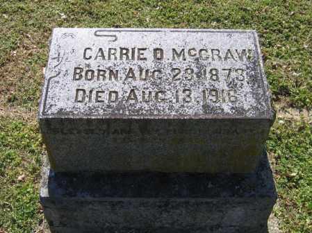 MCCRAW, CARRIE O. - Lawrence County, Arkansas | CARRIE O. MCCRAW - Arkansas Gravestone Photos