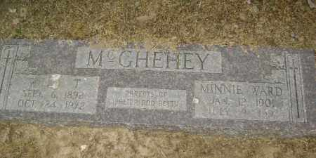 WARD MCGHEHEY, MINNIE - Lawrence County, Arkansas | MINNIE WARD MCGHEHEY - Arkansas Gravestone Photos