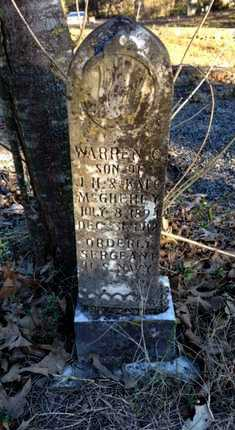 MCGHEHEY, WARREN CURTIS - Lawrence County, Arkansas | WARREN CURTIS MCGHEHEY - Arkansas Gravestone Photos