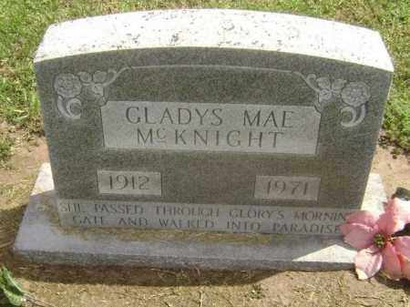 MCKNIGHT, GLADYS MAE - Lawrence County, Arkansas | GLADYS MAE MCKNIGHT - Arkansas Gravestone Photos