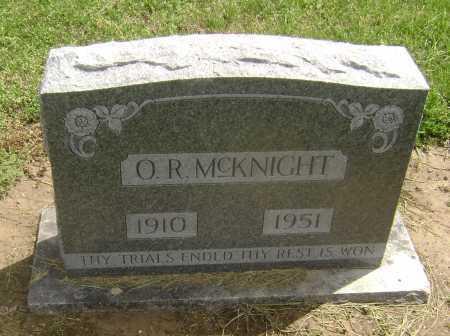 "MCKNIGHT, ORIS R.  ""O. R."" - Lawrence County, Arkansas | ORIS R.  ""O. R."" MCKNIGHT - Arkansas Gravestone Photos"