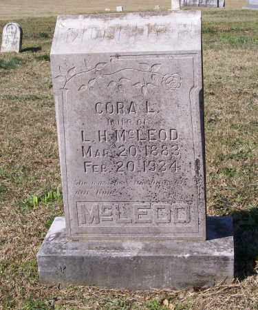 ROWSEY MCLEOD, CORA L. - Lawrence County, Arkansas | CORA L. ROWSEY MCLEOD - Arkansas Gravestone Photos