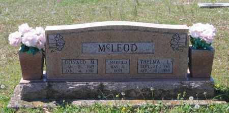 MCLEOD, DONALD M. - Lawrence County, Arkansas | DONALD M. MCLEOD - Arkansas Gravestone Photos