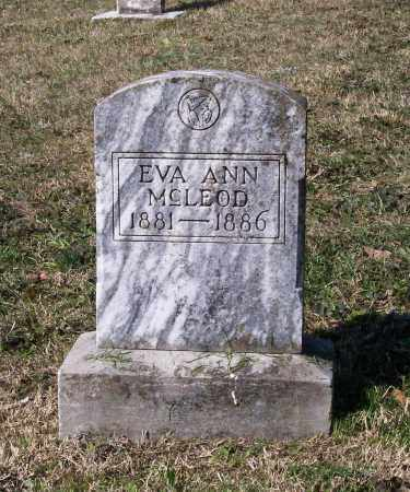 MCLEOD, EVA ANN - Lawrence County, Arkansas | EVA ANN MCLEOD - Arkansas Gravestone Photos