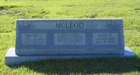 MCLEOD, HENRY CLEVELAND - Lawrence County, Arkansas | HENRY CLEVELAND MCLEOD - Arkansas Gravestone Photos
