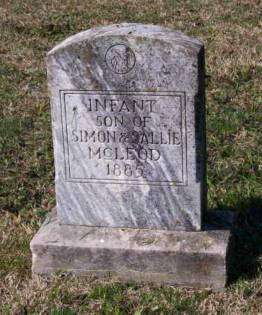 MCLEOD, INFANT SON - Lawrence County, Arkansas | INFANT SON MCLEOD - Arkansas Gravestone Photos