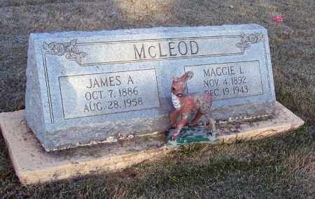 MCLEOD, JAMES ALDINE - Lawrence County, Arkansas | JAMES ALDINE MCLEOD - Arkansas Gravestone Photos