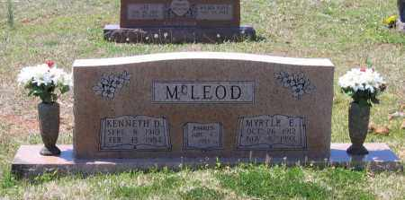 MCLEOD, MYRTLE EUNICE - Lawrence County, Arkansas | MYRTLE EUNICE MCLEOD - Arkansas Gravestone Photos