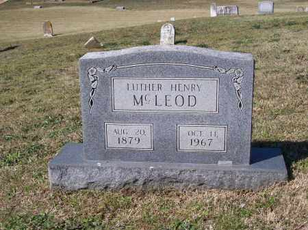 MCLEOD, LUTHER HENRY - Lawrence County, Arkansas | LUTHER HENRY MCLEOD - Arkansas Gravestone Photos