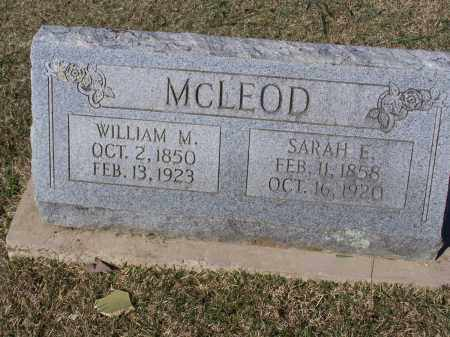 MCLEOD, SARAH E. - Lawrence County, Arkansas | SARAH E. MCLEOD - Arkansas Gravestone Photos